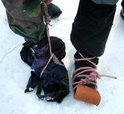Самодельная обувь поход