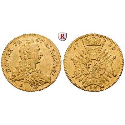 Jülich-Kleve-Berg, Herzogtum Jülich-Berg, Karl Theodor, Dukat 1750, vz+: Karl Theodor 1742-1799. Dukat 1750 Düsseldorf. Auf die… #coins