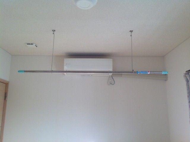 部屋干し 天井吊り式ものほしスタンドを格安diy 部屋干し 部屋