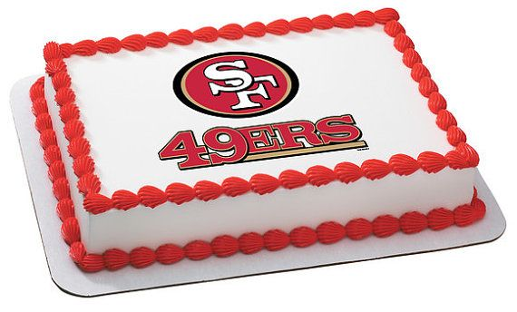 NFL San Francisco 49ers Football Team Logo by CakesPopsCupcakes, $7.95