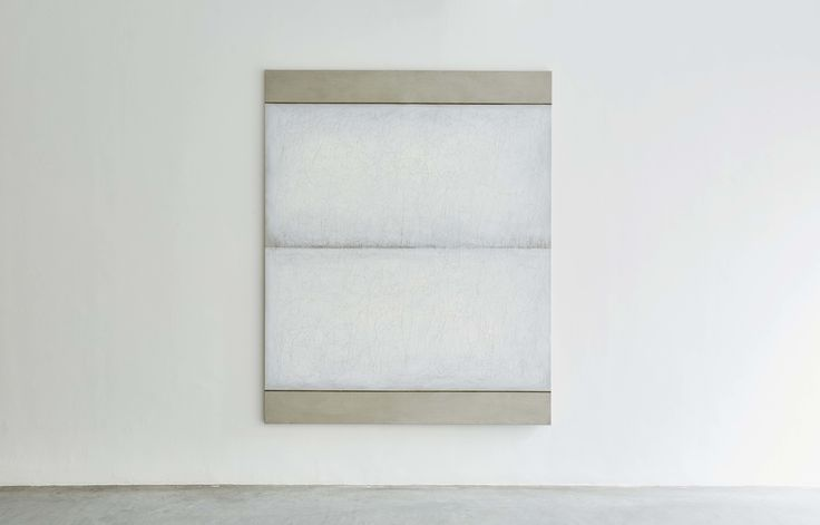 Richard Höglund, Sea Picture XXX, 2016, silver, tin, lead and oil on linen prepared with bone pulver and marble dust, 226 x 183 cm. Ronchini Gallery, London.