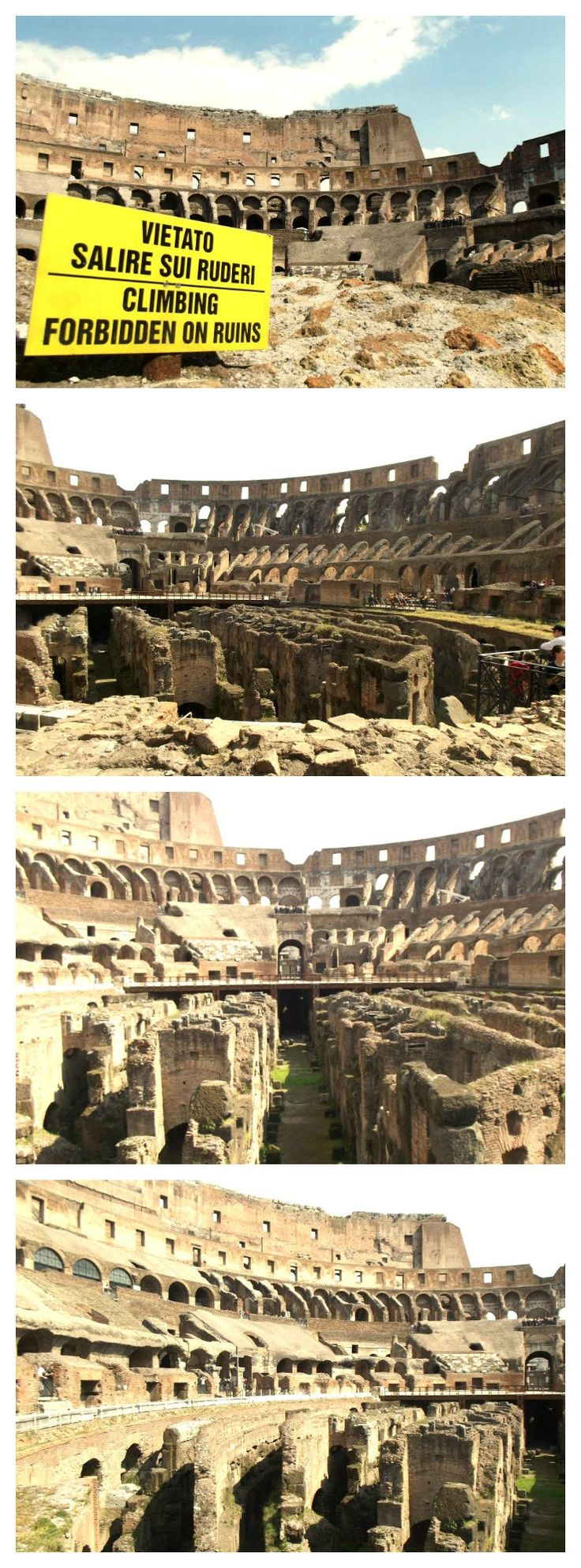 Inside the Colosseum in Rome!