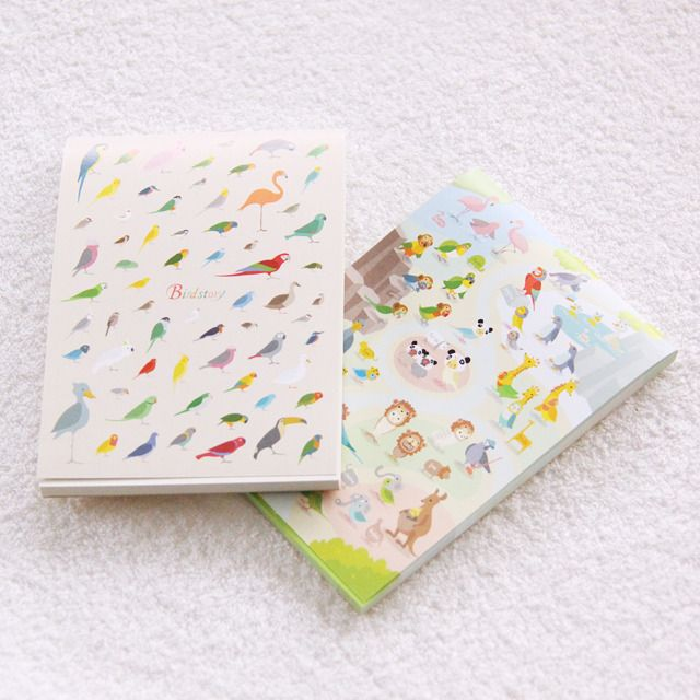 Cute japanese Bird Story notepad