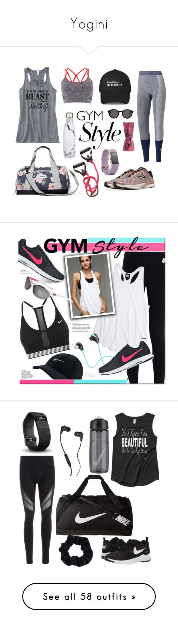 """""""Yogini"""" by evangel-dccx ❤ liked on Polyvore featuring activewear, activewear tops, tops, black, tanks, women's clothing, athletic sportswear, adidas, Vooray and House of Fraser"""
