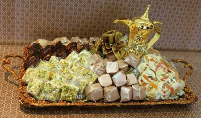 chocolate and sweets tray