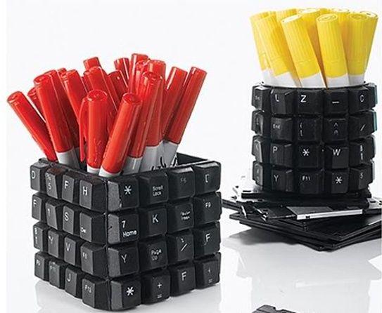 Porta-Treco com Teclados #diy #keyboard #teclado #reciclar #reaproveitar