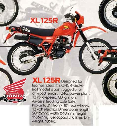 XL 125 R - Honda - 1984