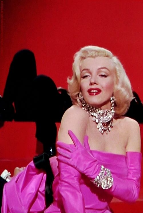 "Unforgettable Marilyn Monroe singing ""Diamonds are a Girl's Best Friend"" in ""Gentlemen Prefer Blondes"":"