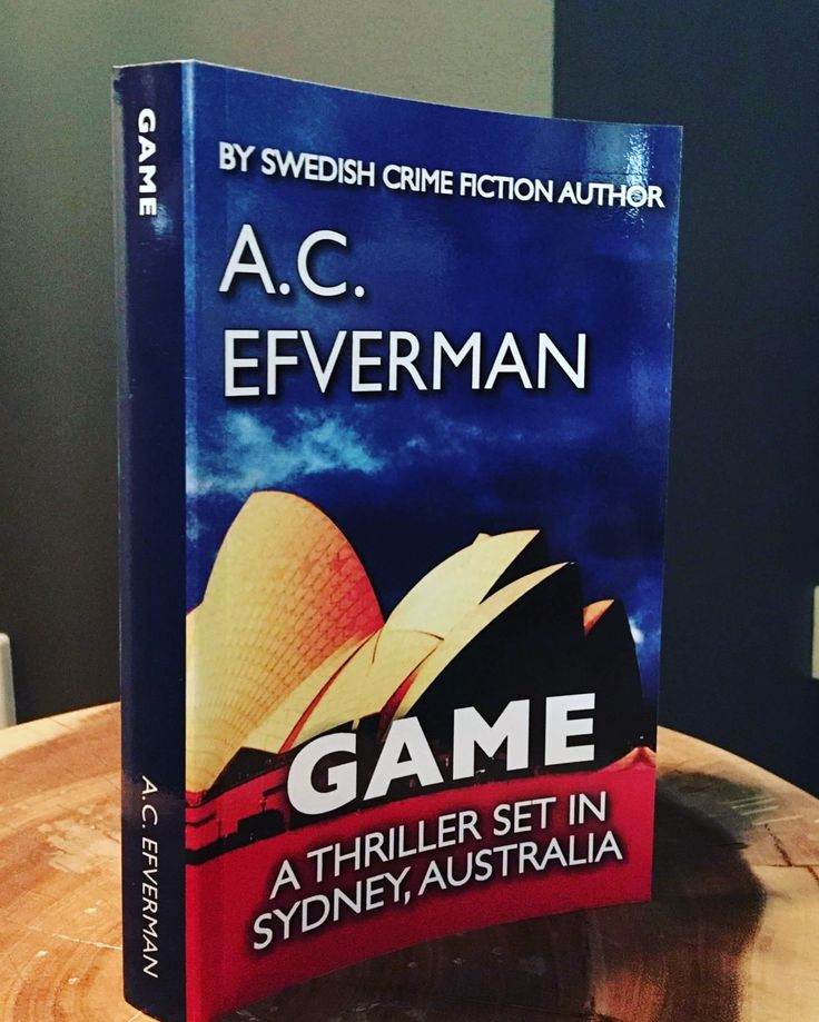 GAME - the Swedish # 1 bestseller murder mystery no reader has been able to solve - will you be the first? By Swedish crime fiction author A.C. Efverman. #books #crimefiction #swedish #bestseller #sydney #australia #game #skuggspel #borta #bookseries #reading #deckare #böcker