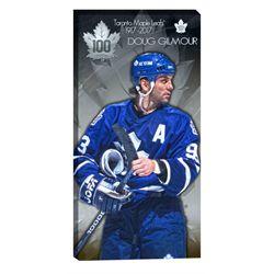 Gilmour,D 14x28 Canvas Maple Leafs 100th Anniversary