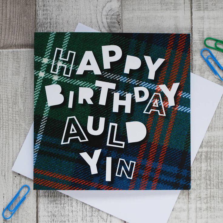 The 158 best scottish greeting cards images on pinterest birthday happy birthday auld yin scottish birthday card m4hsunfo