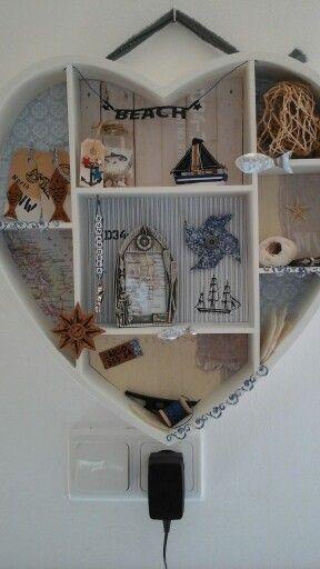 heart printers tray beach style