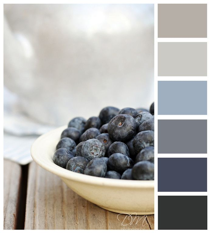Blue grey color palette for the home pinterest grey for Blue gray paint palette