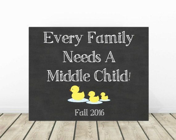 Baby Number 3 Announcement Photo Prop, 3rd Pregnancy Chalkboard Sign, Expecting Third Child, Due Fall 2016, (see shop for other months) by PrintsInspiredByMyah on Etsy