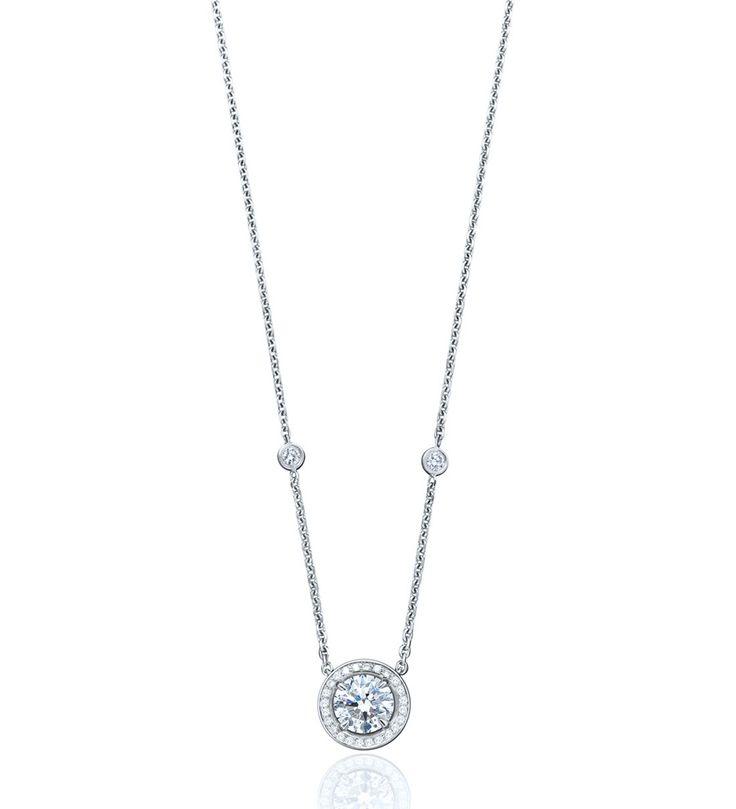 Vintage Classic Round Diamond Pendant - Boodles