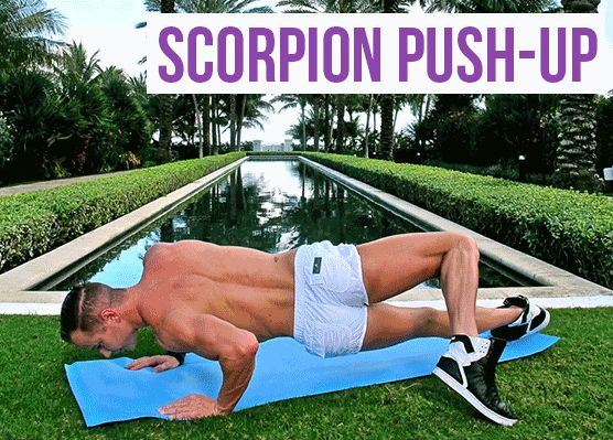 Get in shape with scorpion push-ups!