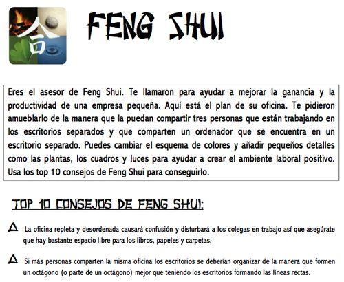 Enseñanza de español E/LE  Feng shui (juego)