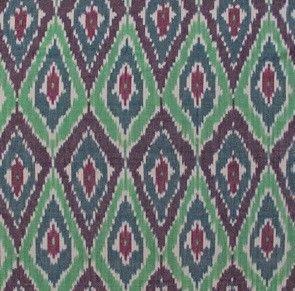 Van Binnen | Capsicum stof Ikat vanaf - Textiel | Natuurlijk wonen