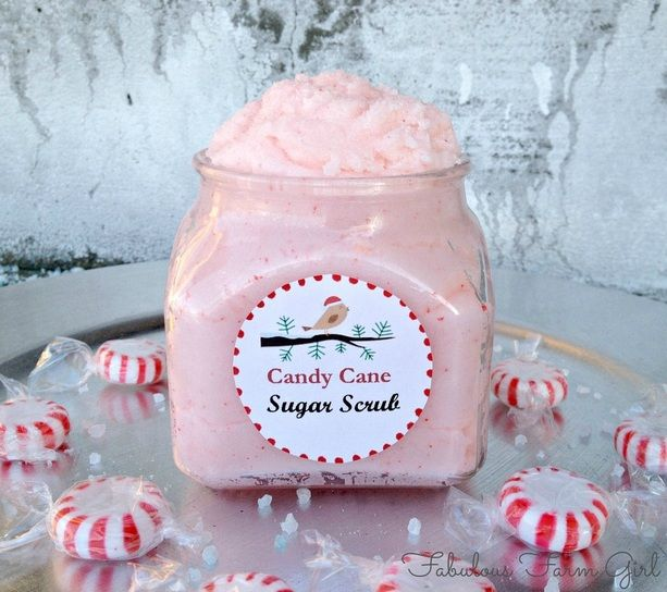 DIY Candy Cane Sugar Scrub: Not only does this decadent body scrub smell sugary sweet, it's also amazing for sloughing off that dry and flaky winter skin.