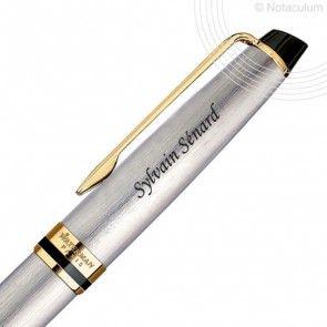 Stylo personnalisé Waterman Expert Acier GT  Expert : un stylo dont la silhouette en forme de cigare dégage force et masculinité. Elégant au bureau, chic en société, ce stylo à personnaliser deviendra vite un accessoire dont vous ne vous séparerez plus.