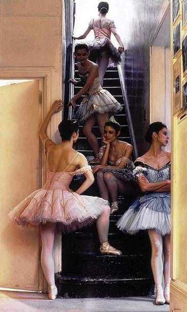 Waiting In The Wings: Wait Backstage, Art, Dance Lessons, Ballerinas Backstage, Ballet, Paintings, Douglas Hofmann, Dance Fer, Backstage Moments