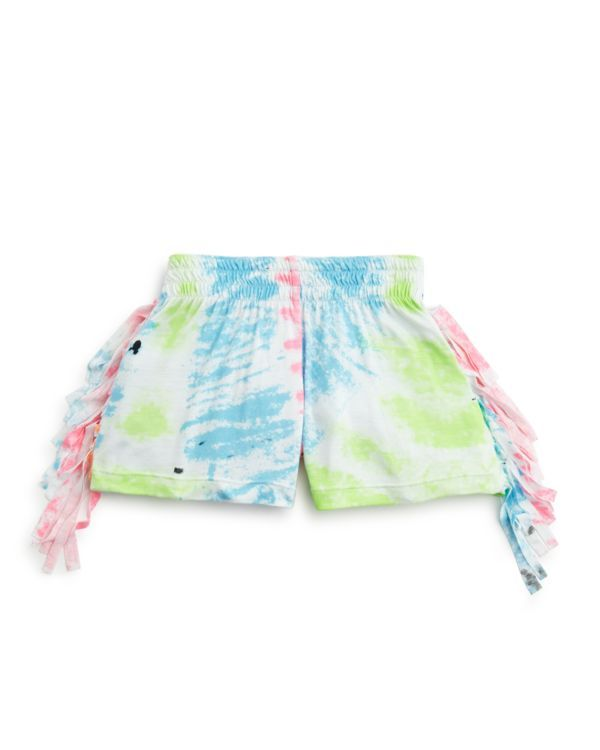 Flowers by Zoe Girls' Fringe Tie Dye Shorts - Sizes 2-6X