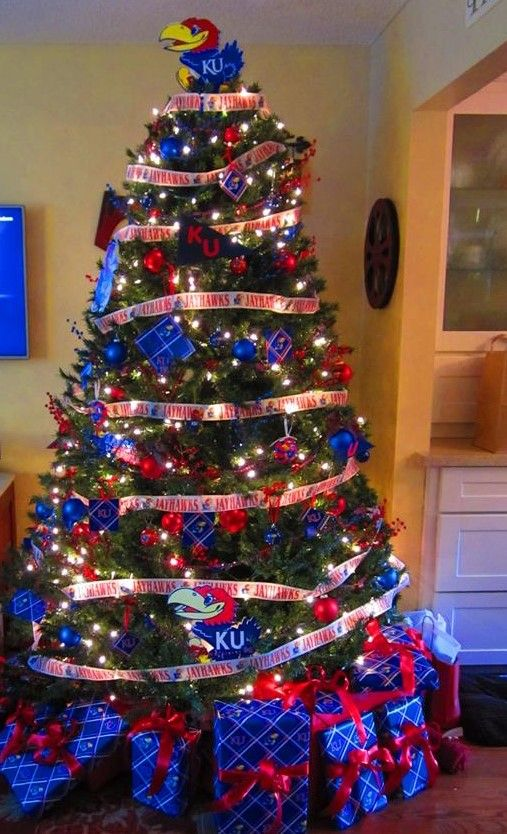 Jayhawk (University of Kansas)  Christmas Tree