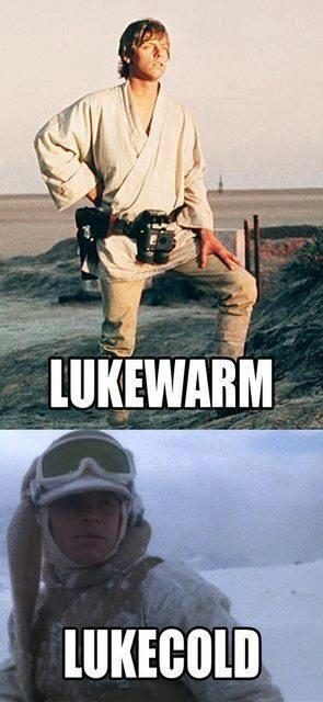 A Lukewarm Star Wars Pun