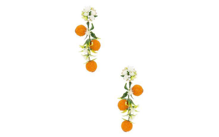 Mercedes Salazar Fiesta Orange Tree Earrings