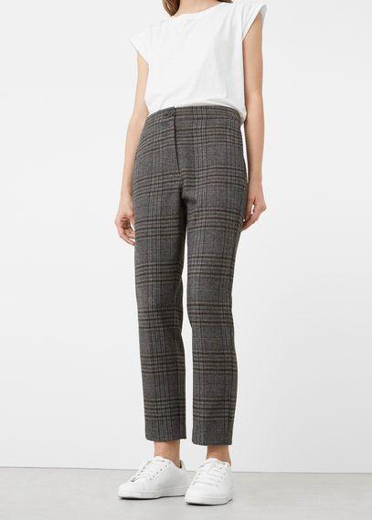 Mango Outlet Check suit trousers
