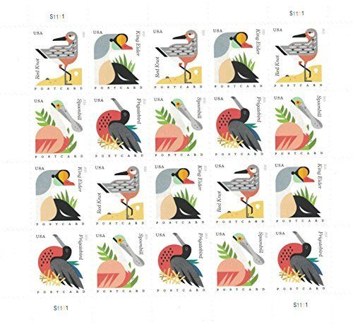 USPS Coastal Birds Postcard Forever stamps (postcard rate) //Price: $6.49 & FREE Shipping //     #hashtag3