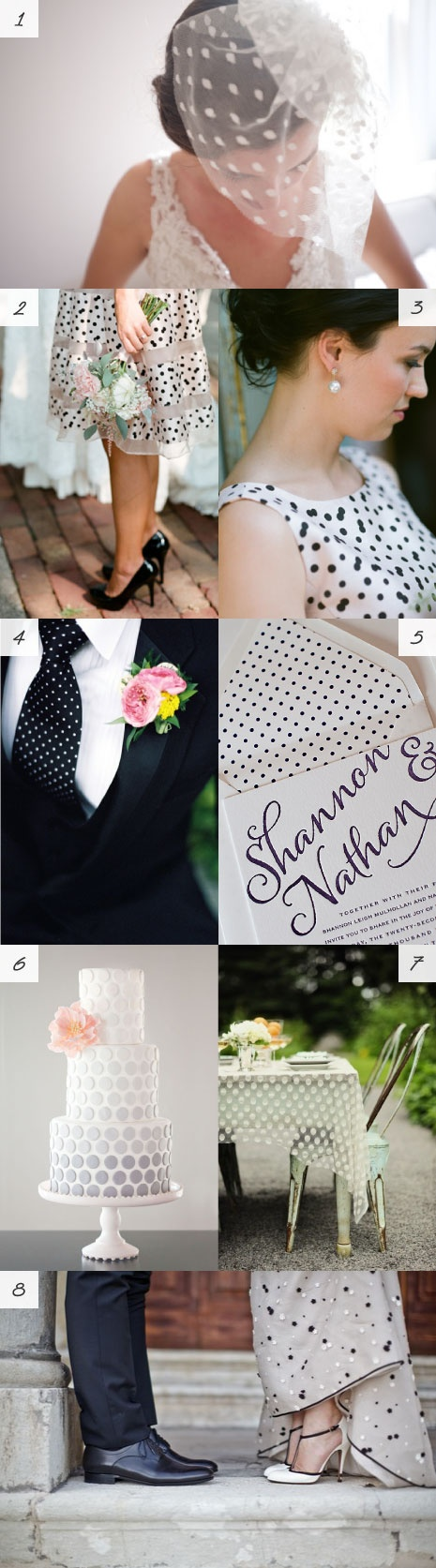 polka dot wedding inspiration #polkadots http://weddings.momsmags.net/polka-dot-wedding-invitation-cards/
