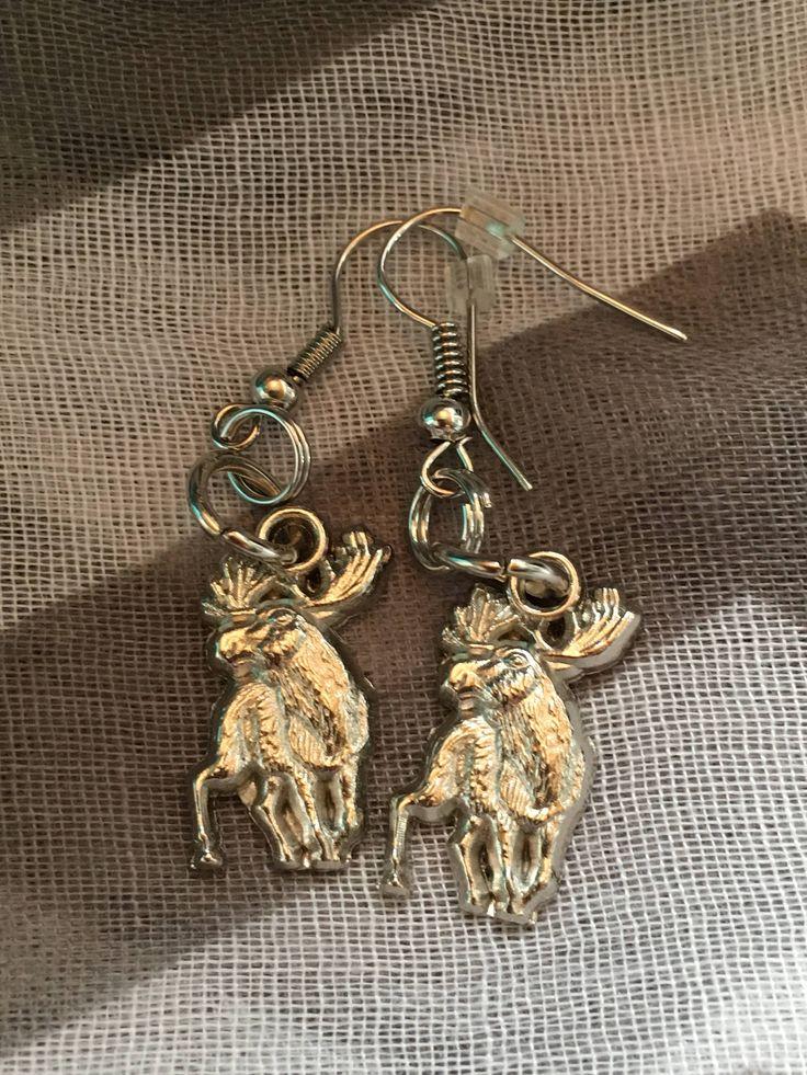 Handmade - Charm Earrings - Moose Charm - Fishhook Earrings - Charm Jewelry Earrings - Newfoundland and Labrador - Salty Air Inspirations by SaltyAirInspirations on Etsy https://www.etsy.com/ca/listing/537754368/handmade-charm-earrings-moose-charm