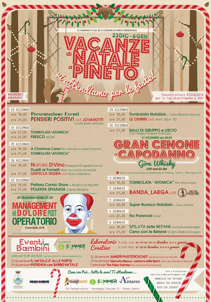 Vacanze di Natale a Pineto - Christmas events Adv on Behance