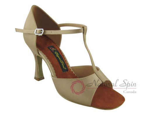 Natural Spin Latin Shoes(Open Toe):  M1102-03_ErJS