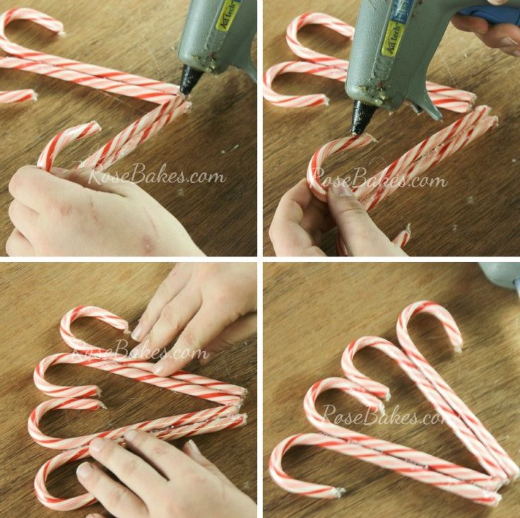 How to Make a Candy Cane Wreath 02