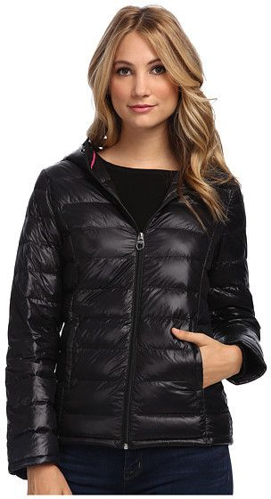 Stylish detailing gives this Calvin Klein puffer jacket well deserved fashion credentials. Quilted puffer coat boasts a lightweight down fill for warmth without added bulk. Attached hood. Full-zip closure. Long sleeves. Side hand pockets. Straight hemline. Contrast interior taping lends visual interest. Matching packable sack included. Lined. Shell: 100% nylon; Fill: 60% down, 40% feathers;...