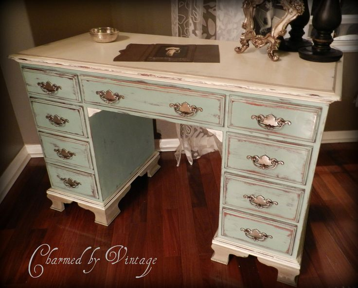 Paris French Cottage Shabby Chic Desk (RESERVED and SOLD for JESSICA). $355.00, via Etsy.
