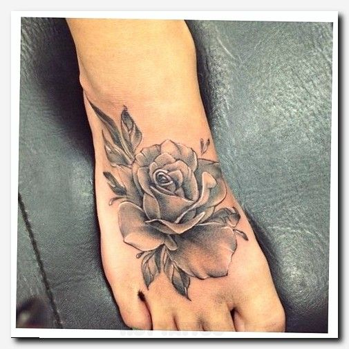 My Polyvore Finds | Rose Tattoo | Foot tattoos, Rose ...