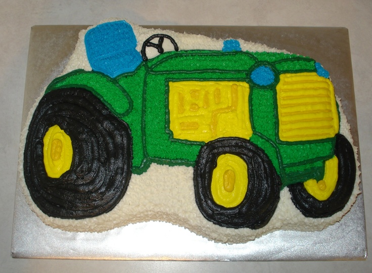 Tractor From Wilton Form Pan Nickey S Cakes Tractors