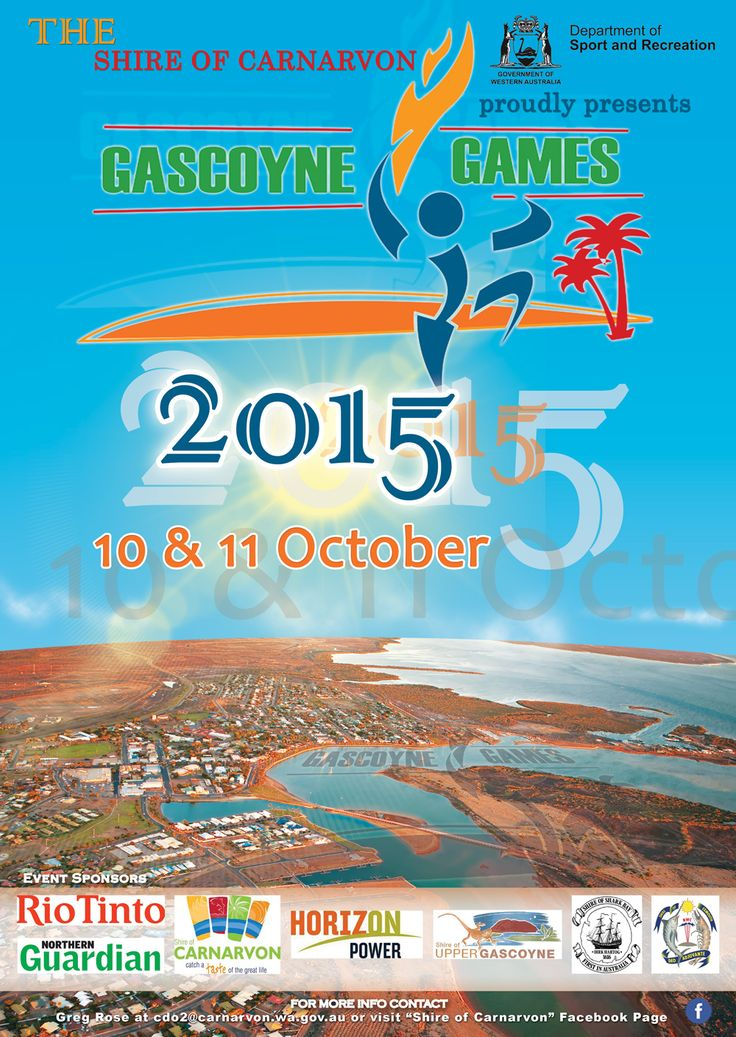 A3 Poster Design for The 2015 Gascoyne Games organised by Dept of Sport and Recreation - WA Government - All rights reserved ©Kreative Views 2015