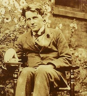 "Rupert Brooke:  ""Breathless, we flung us on a windy hill, Laughed in the sun, and kissed the lovely grass."""