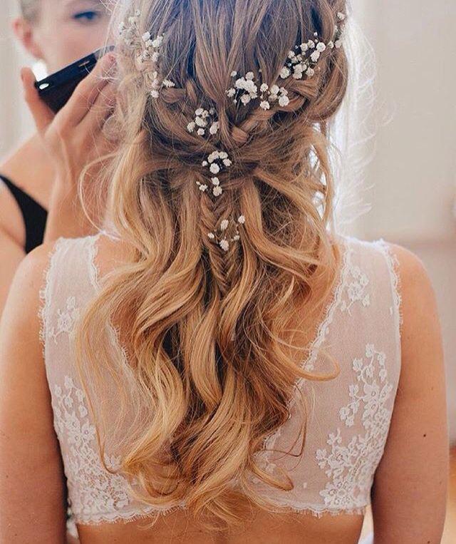 Coiffure mariage cheveux détachés