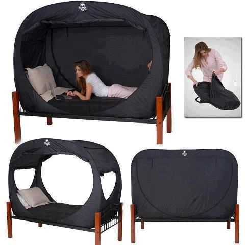 $119.00 Privacy Bed Tent - Add some privacy to your living space with this adjustable privacy bed tent. This clever bed tent is able to switch from fully open to full privacy mode in just seconds.