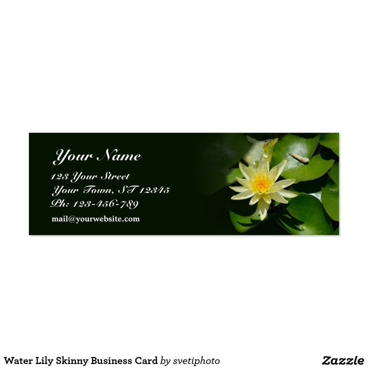 SOLD Water Lily Skinny Business Card