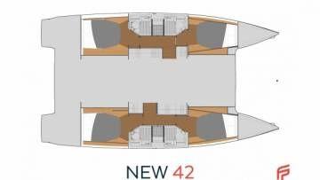 New 42 Fountaine Pajot sailing catamaran  - Quatuor version 4 cabins 4 heads