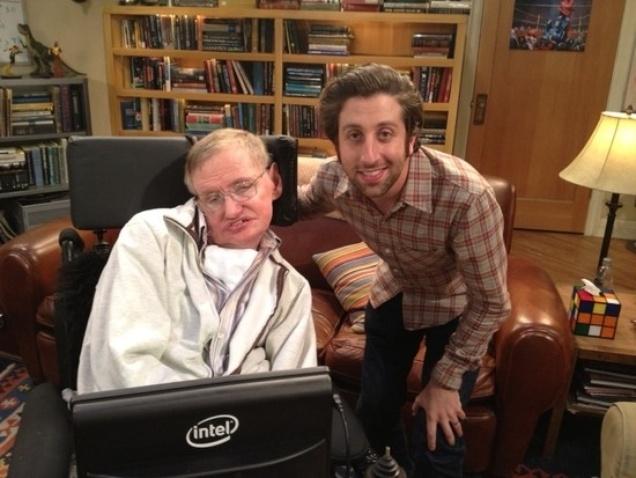 The Big Bang Theory - Howard and Stephen Hawking