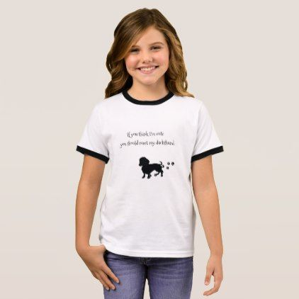 #Girl's Dachshund Shirt - #dachshund #puppy #dachshunds #dog #dogs #pet #pets #cute