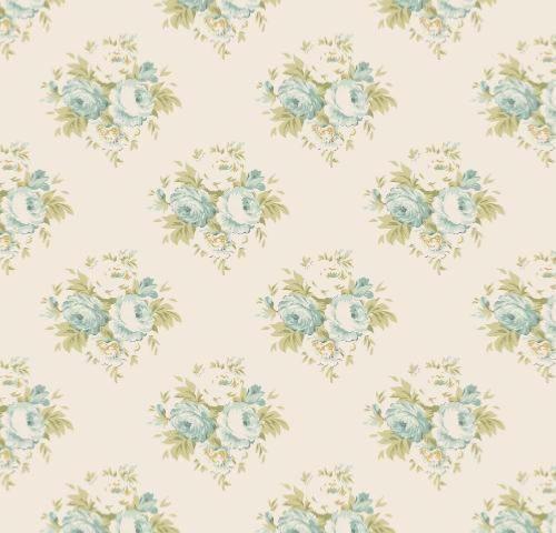 Tissu Tilda Lizzy Teal - Coupon Patchwork 45x55cm