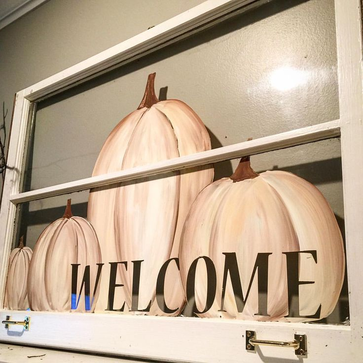 This hand painted window is my first project of the day. Now it's time to move on & make a lamp! #artsyvava #handpainted #pumpkins #inspiredbyfall2015